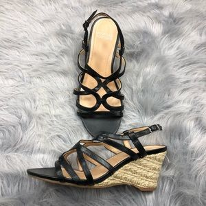 Mootsies tootsies sandal wedges size 8.5 like new